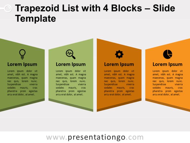 Trapezoid List with 4 Blocks