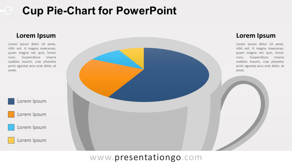 Cup Pie-Chart Template for PowerPoint