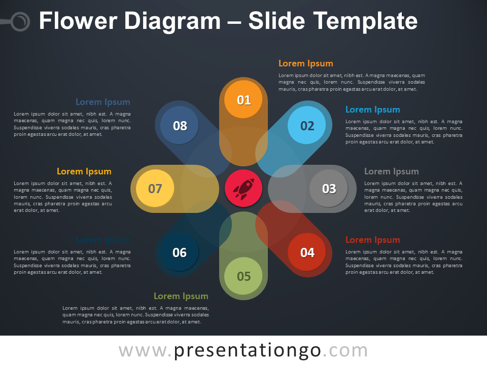 Free Flower Diagram Presentation Template