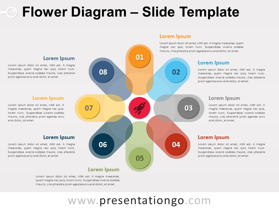 Free Flower Diagram Slide Template