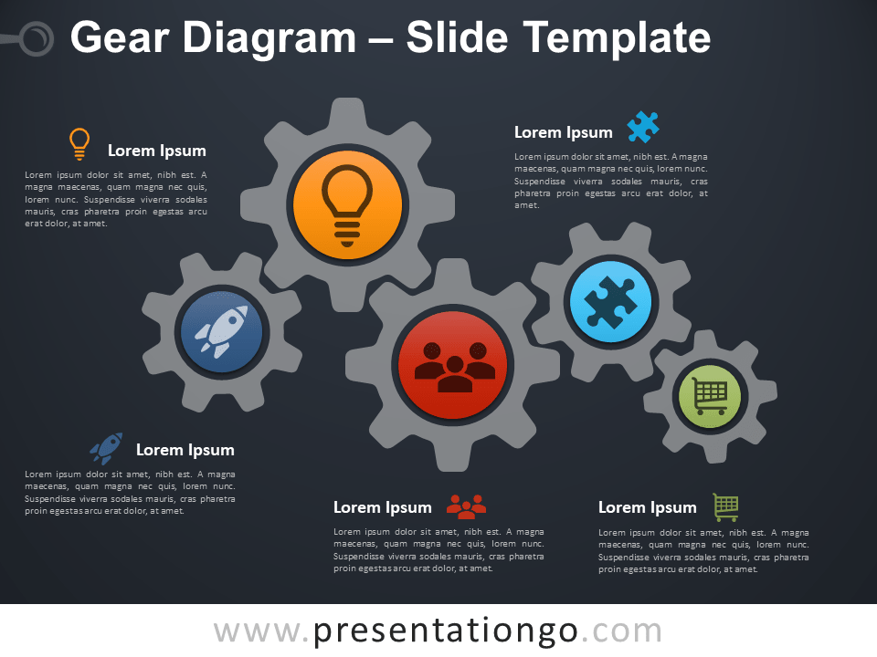 Free Gear Diagram Presentation Template