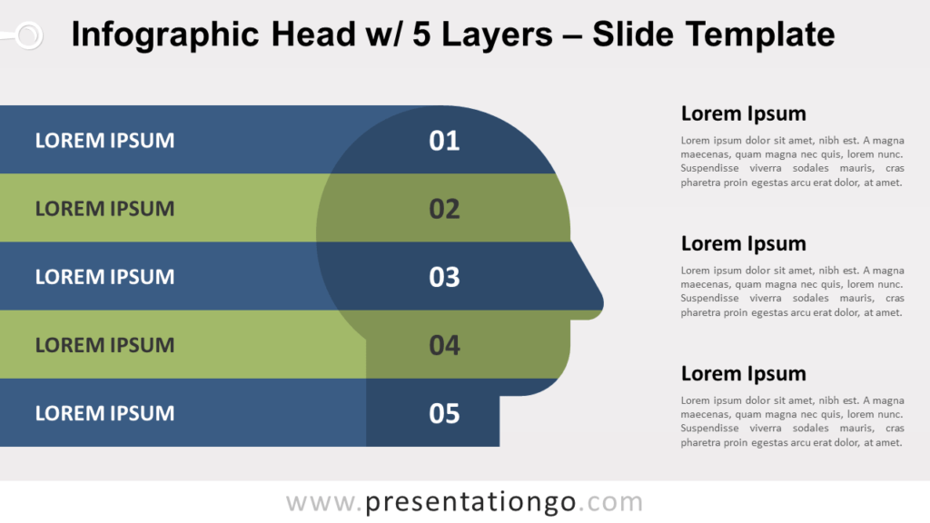 Free Infographic Head with 5 Layers for PowerPoint and Google Slides
