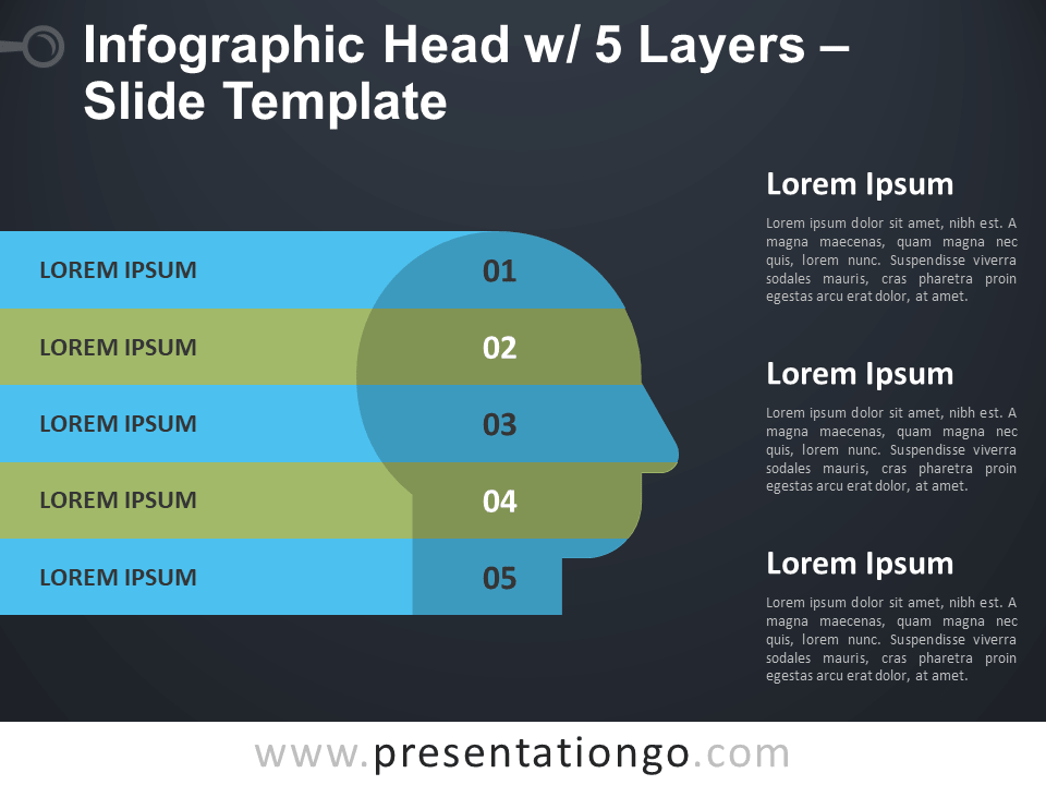 Infographic Head with 5 Layers - Slide Template