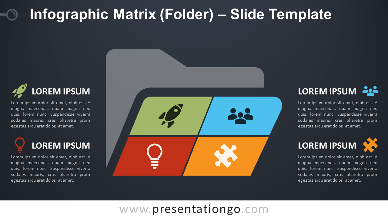 Free Infographic Matrix Folder for PowerPoint and Google Slides