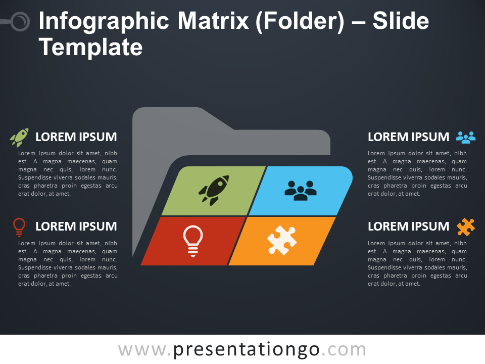 Free Infographic Matrix Folder Slide Template