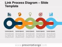 Free Link Process Diagram Slide Template