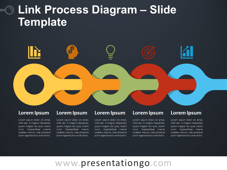 Free Link Process Slide Template