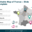 Free Map of France Slide Template