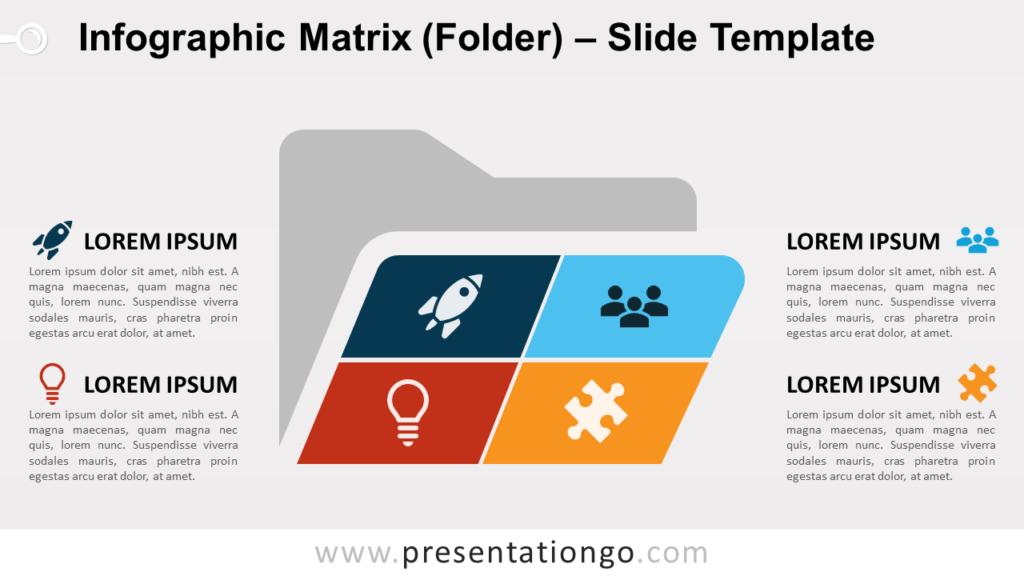 Free Matrix Folder for PowerPoint and Google Slides
