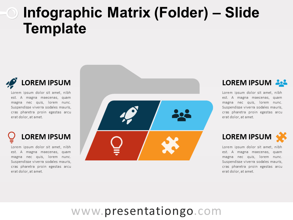 Free Matrix Folder Slide Template