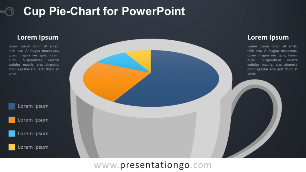 Pie-Chart Cup Template for PowerPoint