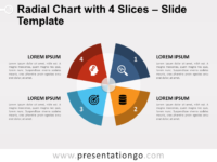 Radial Chart with 4 Slices Template
