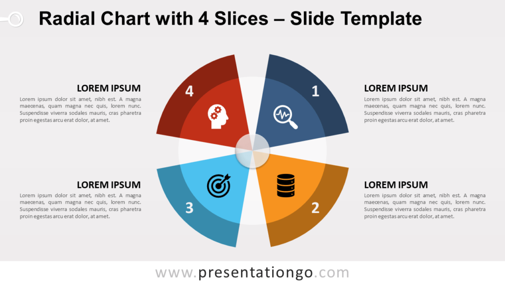 Free Radial Chart with 4 Slices for PowerPoint and Google Slides
