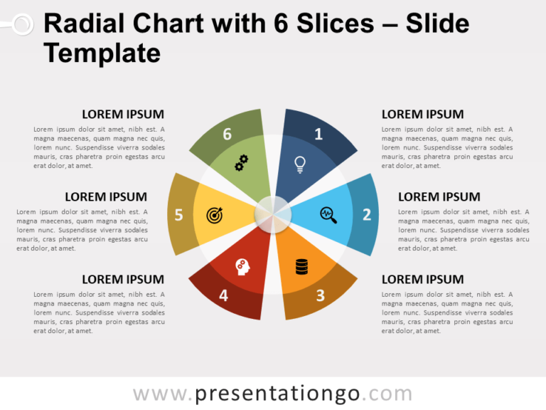 Radial Chart with 6 Slices Template