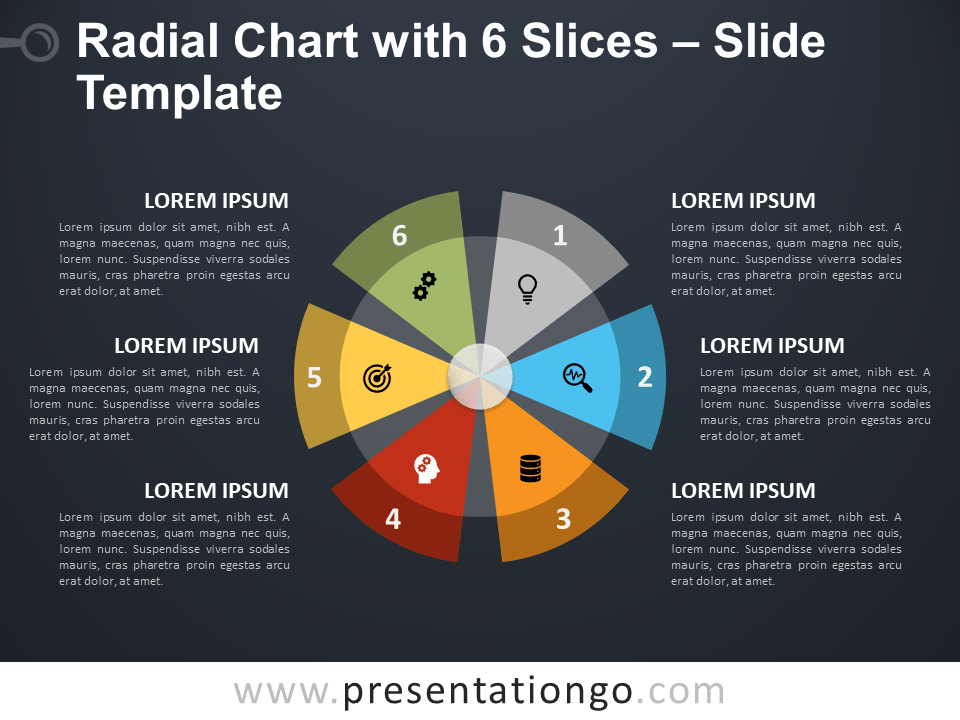 Radial Chart with 6 Slices