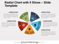 Radial Chart with 5 Slices Template