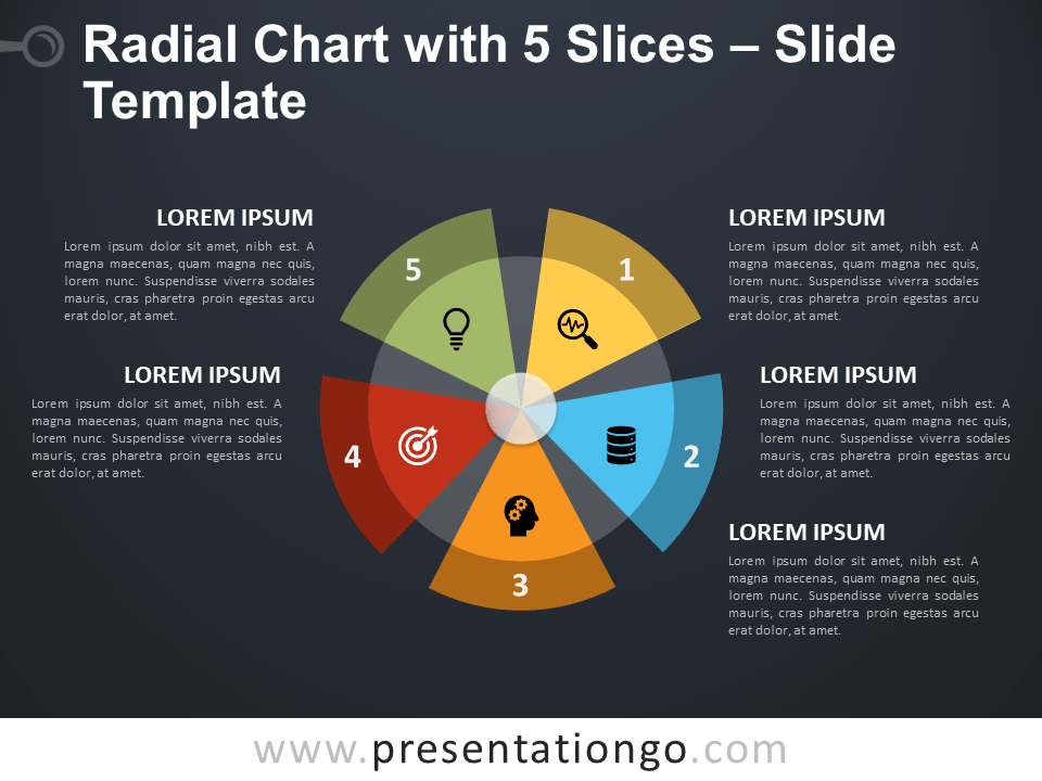 Radial Chart with 5 Slices