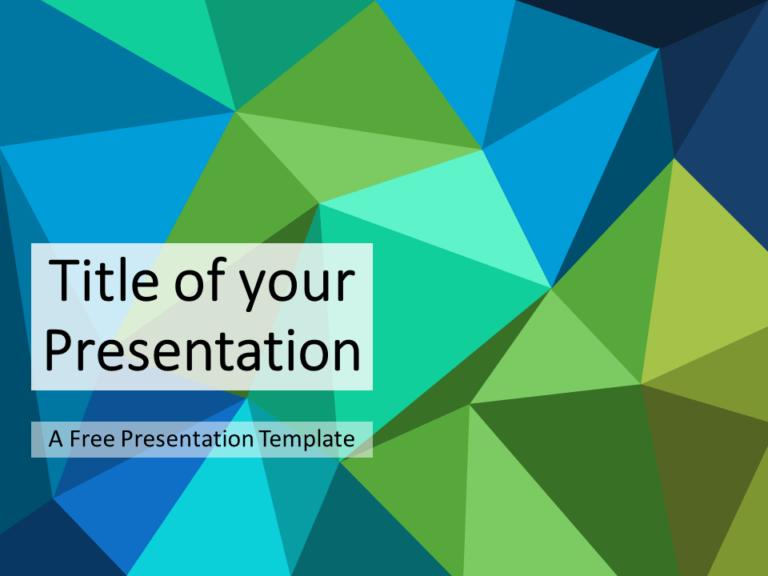 Blue-Green Triangle Mosaic Template