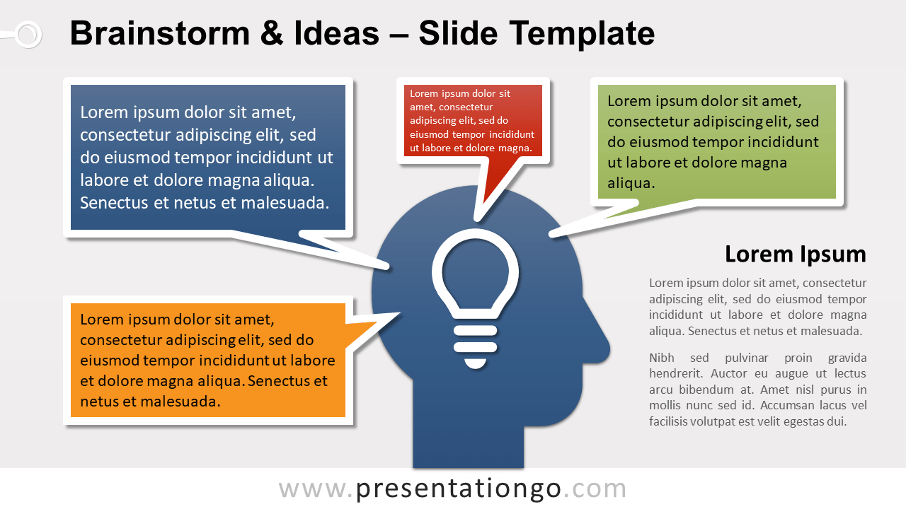 Free Brainstorm and Ideas for PowerPoint and Google Slides