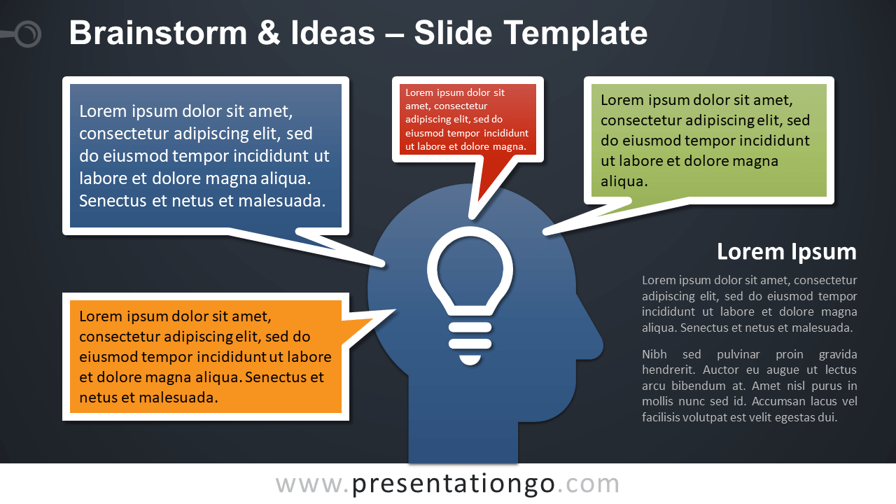 Free Brainstorm and Ideas Template for PowerPoint and Google Slides