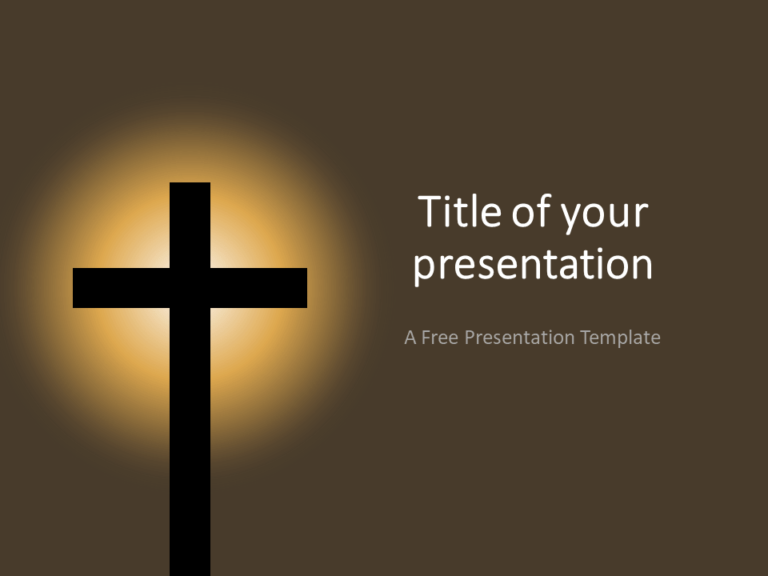 Free Christian Cross Template for PowerPoint