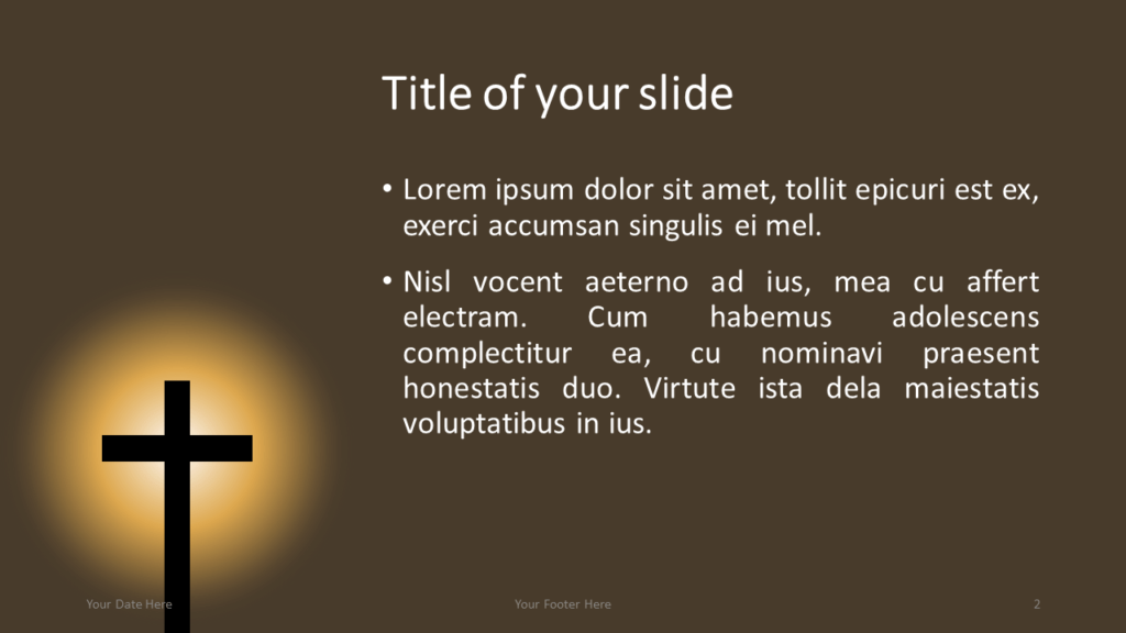 Christian Cross Template for PowerPoint and Google Slides - Title and Content Slide