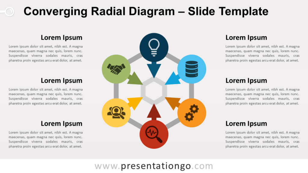 Converging Radial Diagram for PowerPoint and Google Slides