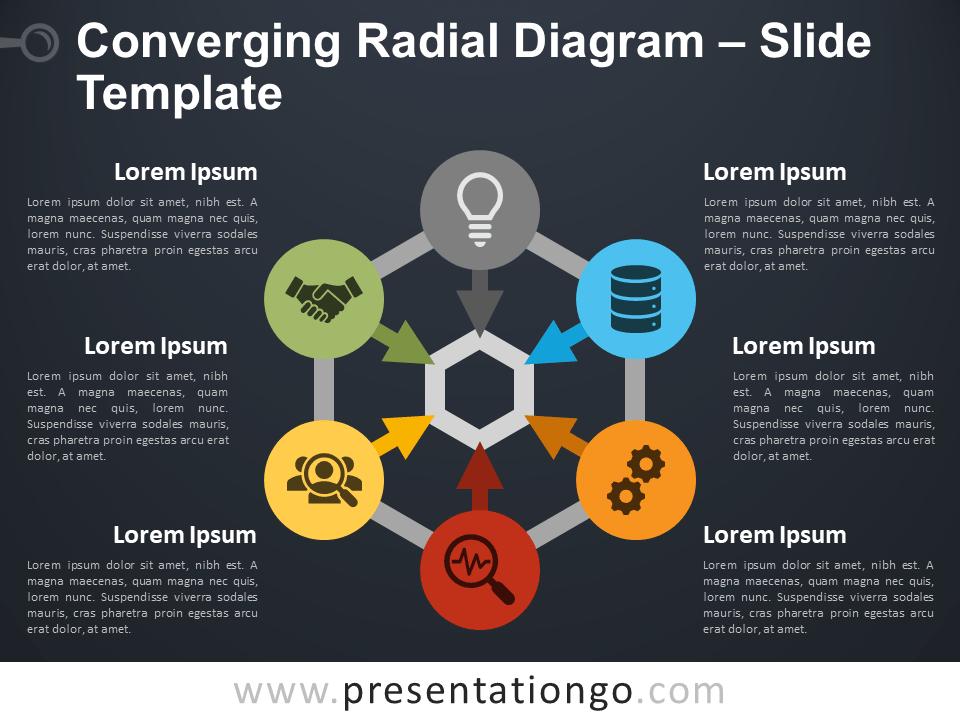 Free Converging Radial Diagram Slide Template