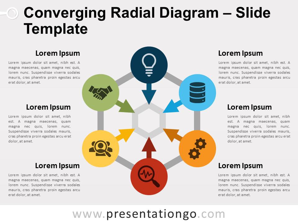 Free Converging Radial Diagram