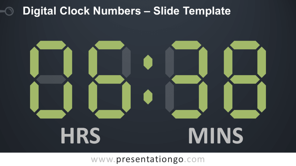 Free Digital Clock Numbers for PowerPoint