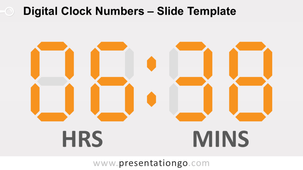 Free Digital Clock Numbers for PowerPoint and Google Slides