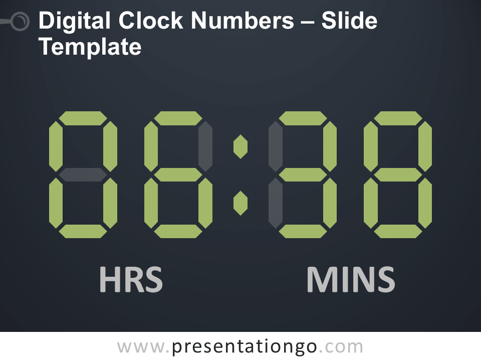 Free Digital Clock Numbers Slide Template