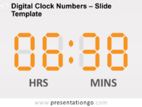 Free Digital Clock Numbers Template