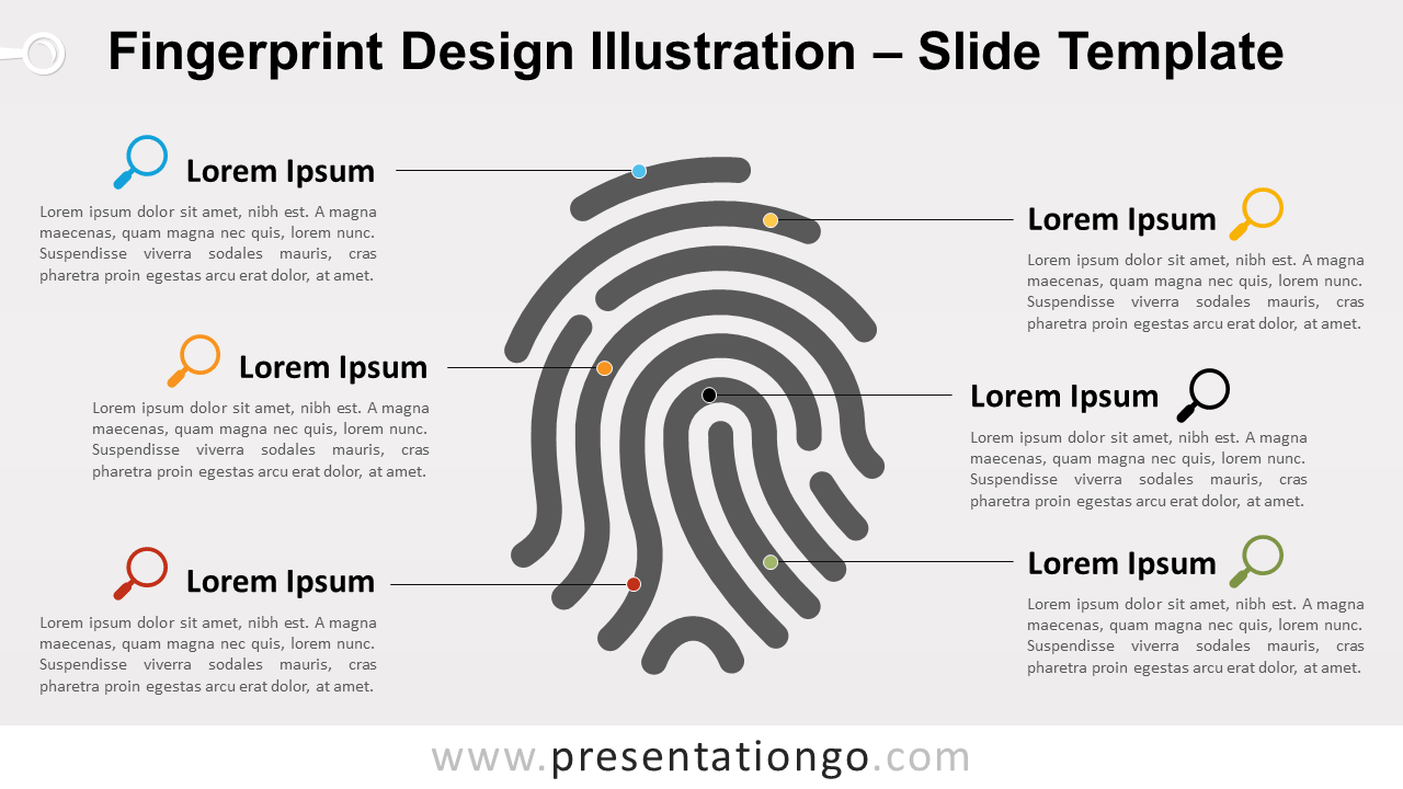 Free Fingerprint Template for PowerPoint and Google Slides