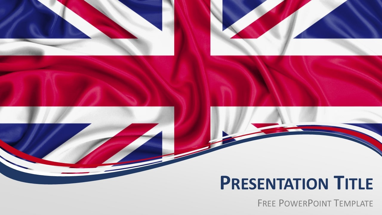 Free UK Flag PowerPoint and Google Slides Template