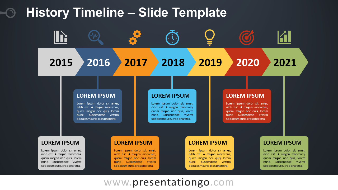 Free History Timeline Diagram for PowerPoint and Google Slides