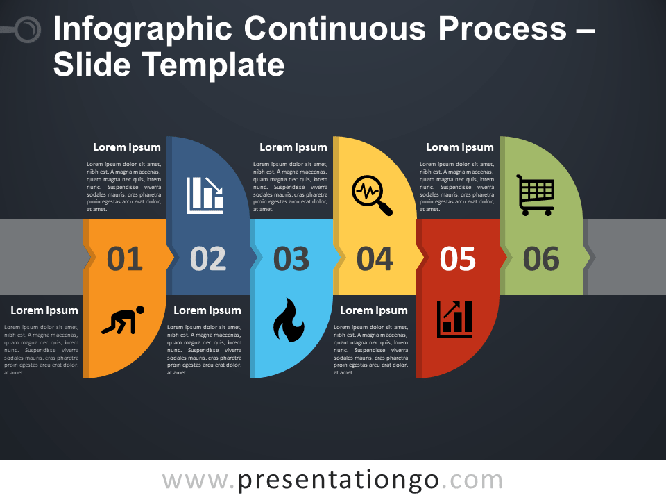 Free Infographic Continuous Process Template