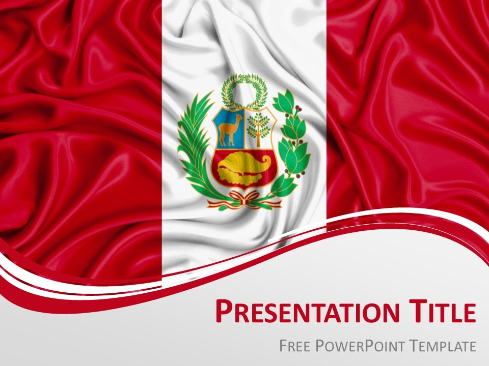 Free Peru Flag PowerPoint Template