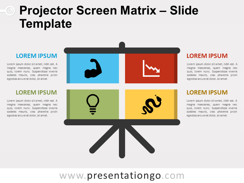 Free Projector Screen Matrix for PowerPoint