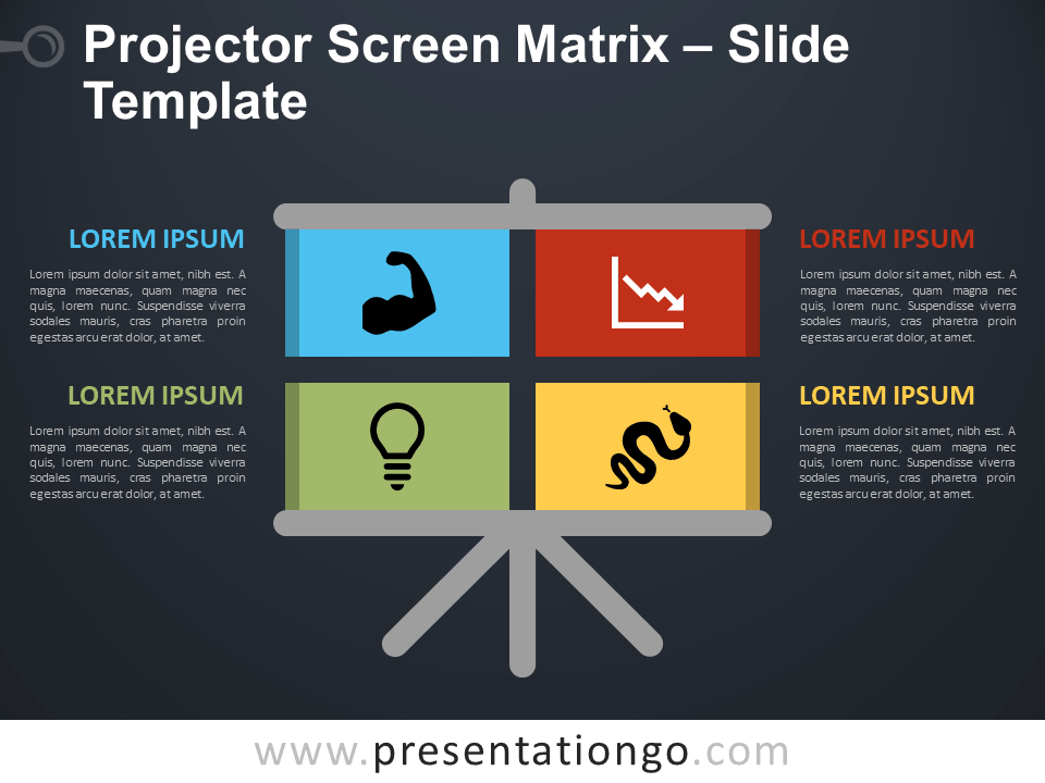 Free Projector Screen Matrix Template for PowerPoint