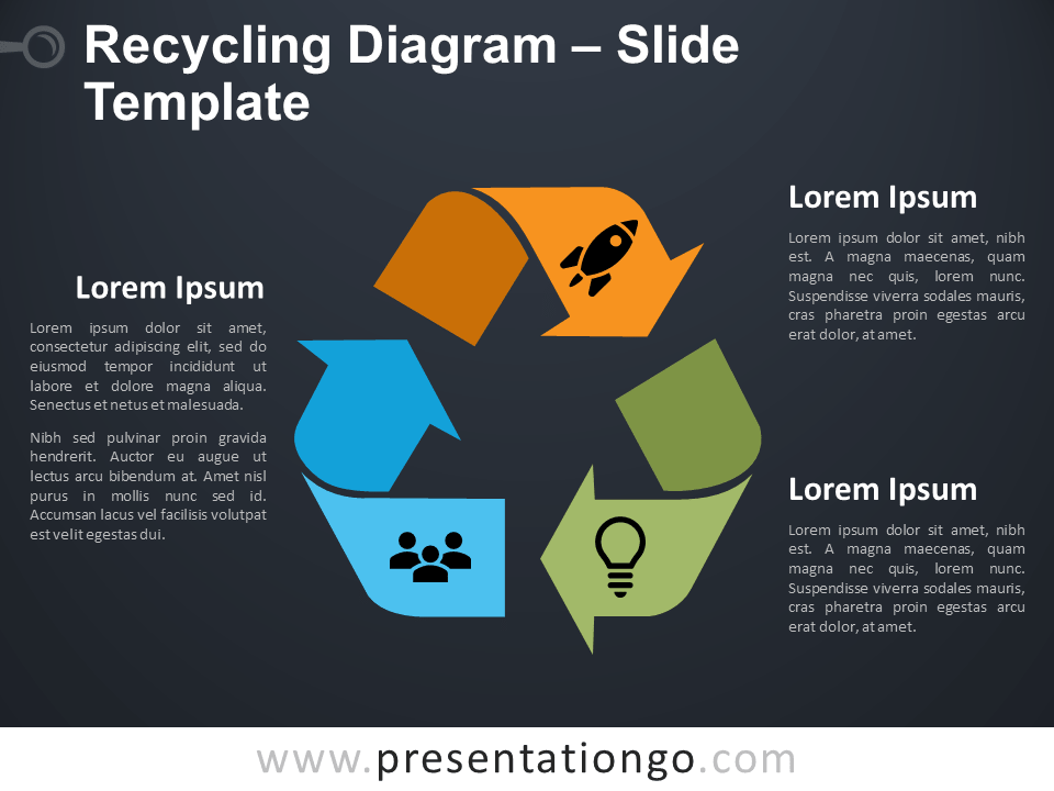 Free Recycling Symbol for PowerPoint