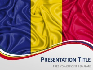 Free Romania Flag PowerPoint Template