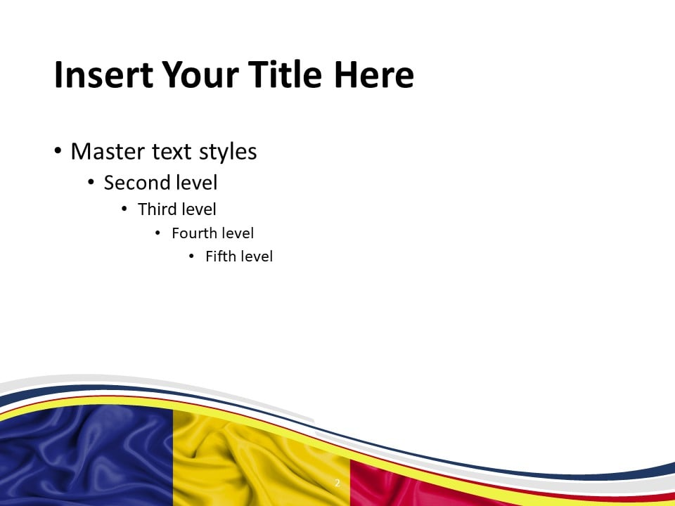Free Romania Flag PowerPoint Template - Slide 2