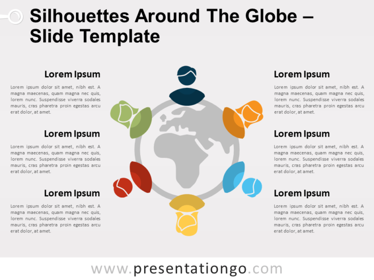Free Silhouettes around the Globe for PowerPoint