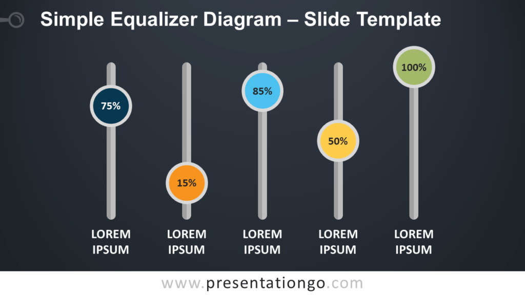 Free Simple Equalizer Diagram for PowerPoint