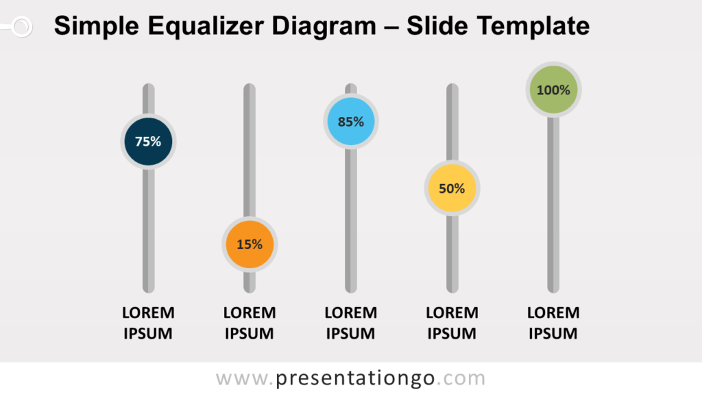Free Simple Equalizer Diagram for PowerPoint and Google Slides