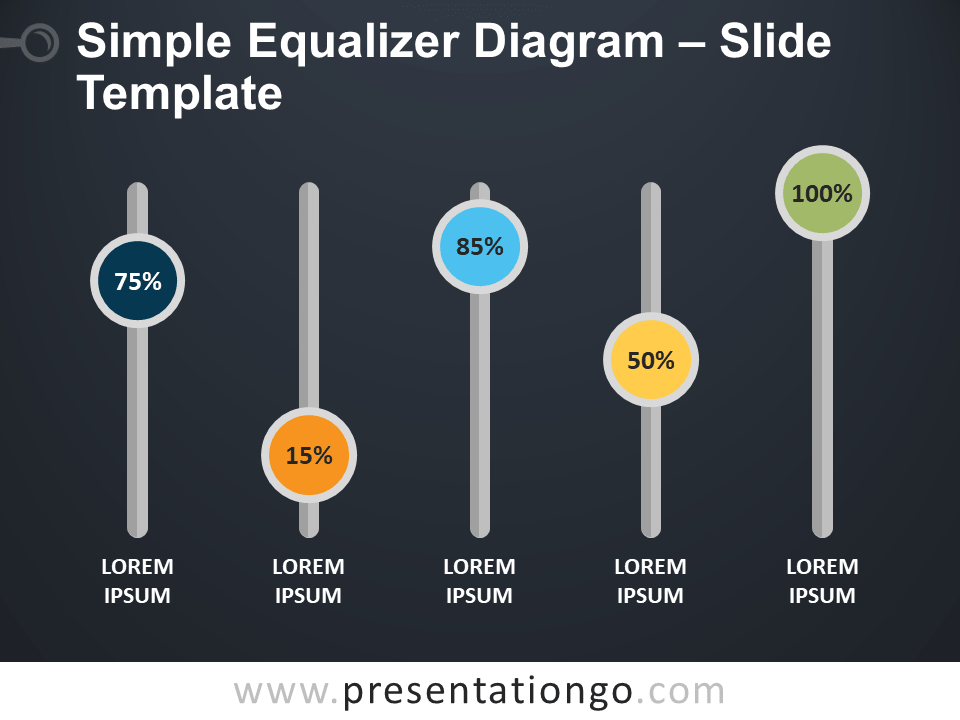 Simple Equalizer Diagram for PowerPoint and Google Slides