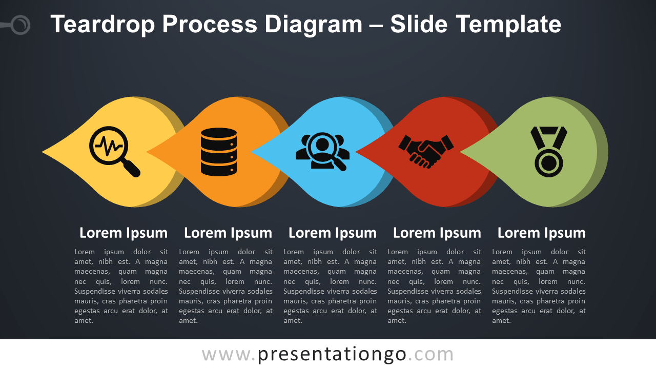 Free Teardrop Process Diagram for PowerPoint