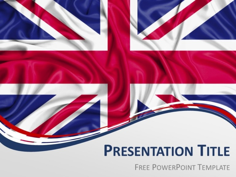 Free UK Flag PowerPoint Template