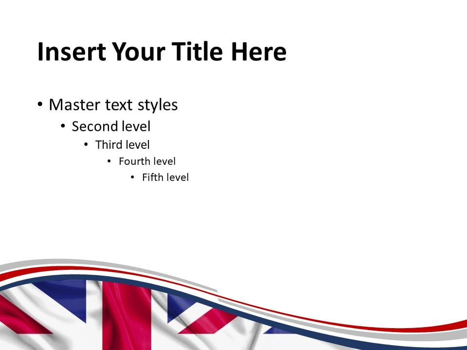 Free UK Flag PowerPoint Template - Slide 2